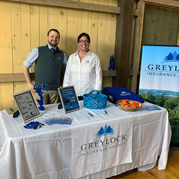 greylock insurance agency employees at a career fair in westfield ma